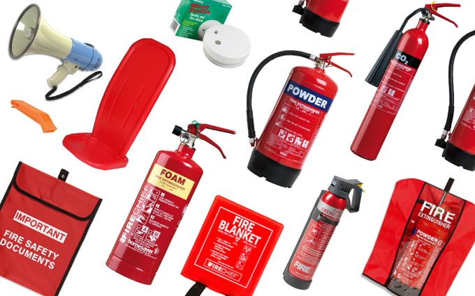 Fire extinguishers, stands and accessories