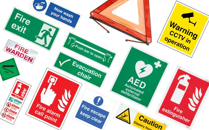 Health and safety signs and posters